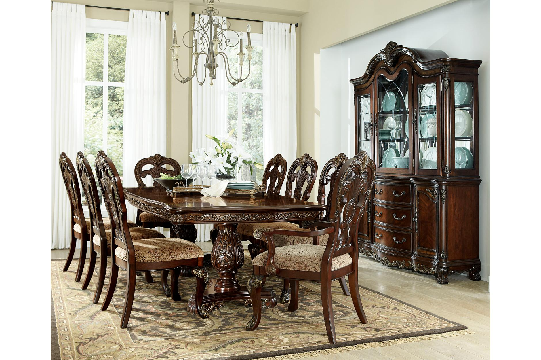 7PC Dining Set (Table - 4 Side Chairs - 2 Arm Chairs)