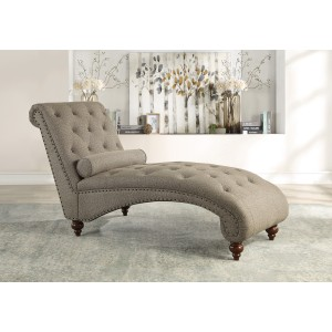 Chaise with Nailhead and Pillow/1162NBR-5