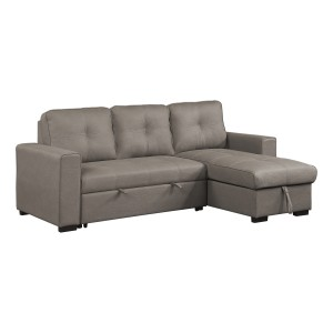 2-Piece Reversible Sectional with Pull-out Bed and Hidden Storage/9569NFTP*SC