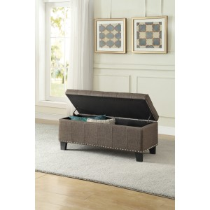Lift-Top Storage Bench, Brown/4614-F1